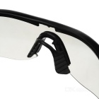 UV400 beskyttelse ABS Frame PC Lens Goggles - Svart + Transparent