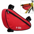 B-SOUL YA191 Nylon Triangle Bike Top Tube Bag - красный + черный