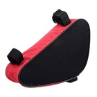 B-SOUL YA191 Nylon Triangle Bike Top Tube Bag - Black + Red