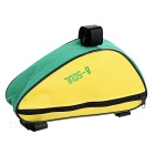 B-SOUL YA191 Nylon Triangle Bike Top Tube Bag - Yellow + Green