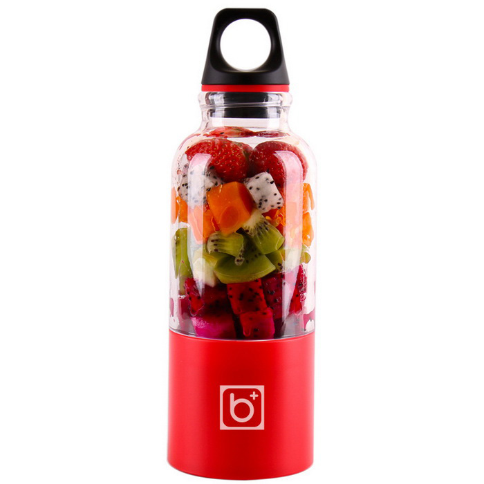 500ml Melk Blender Fruit Groentesap Extractor Fles - Rood