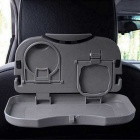 ZIQIAO Car Multi-Functional Travel Dining Tray Beverage Holder - Gray