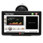 "Junsun D100 7"" HD Car GPS w/ 256MB RAM, 8GB Memory, EU Map - Black"