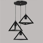 YouOKLight YK2401 Retro Pendant E27 Light Lamp Holder - Black (3 PCS)