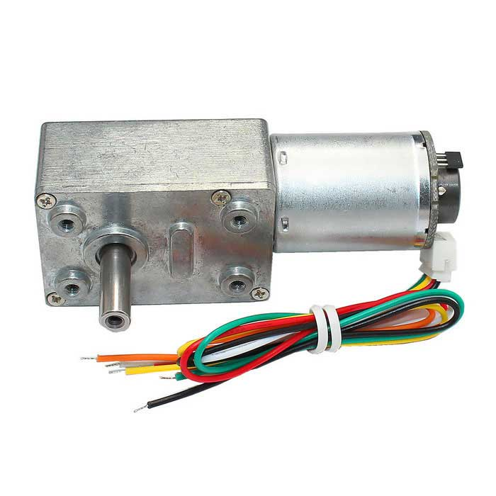 40 rpm 12V DC Encoder Motor Turbo Worm Gear Motor w / Self Lock