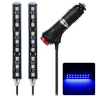 exLED 10W 12V LED Car Interior Decoration Lamp 1 to 2 Blue Light