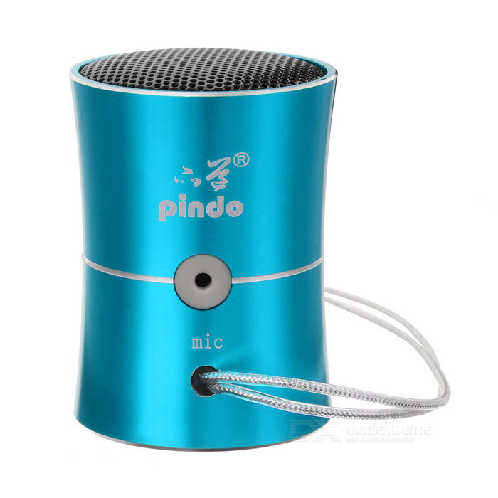 PINDO PD M7 Outdoor Mini Portable Bass Speaker FM w/ Card Slot - Blue