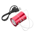 PINDO PD M7 Outdoor Mini Portable Bass Speaker FM w/ Card Slot - Red
