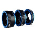 3-in-1 31mm / 21mm / 13mm Metal + Plastic AF Extension Ring Adapter, Supports TTL / AE Modes