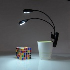 MLSLED 0.35W Mini Clip Portable 4-LED Flexible Dual Lamp Cool Light