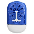 USB Charging Mini Handheld Air Conditioner Cooling Fan - Blue + White