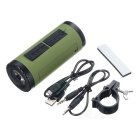 PINDO PD P-X6 Bicicletta Bluetooth Speaker & Power Bank-Esercito Verde + Nero
