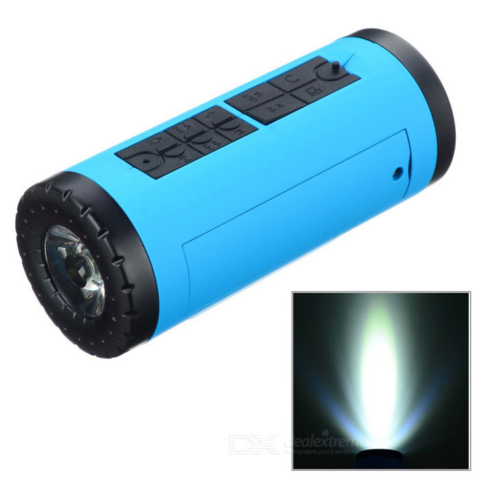 PINDO PD P-X6 Bike Bluetooth Speaker &amp; Power Bank - Blue + BlackBike Accessories<br>Form  ColorBlue + BlackModelP-X6Quantity1 DX.PCM.Model.AttributeModel.UnitMaterialABSTypeOthers,Bluetooth speakerBest UseCyclingCertificationCEPacking List1 * Speaker1 * Chinese user manual1 * USB cable (44+/-2cm)1 * Audio cable (44+/-2cm)1 * Bike mount<br>