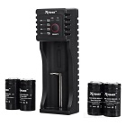Xpower C1 Charger + 4 * 18350 800mAh IMR Rechargeable Batteries + Case