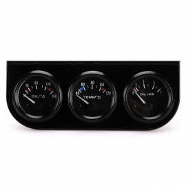 IZTOSS B735 52mm Oil Temp Gauge Water Temp Gauge Oil Pressure Gauge
