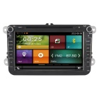 "carrotouch (R) 8 ""2 Din carro DVD Player w / GPS, Rádio, BT - preto"