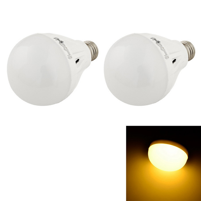 YouOKLight E27 7W 16-SMD 5730 warmweiße LED-Birnen-Lampe (220V / 2ST)
