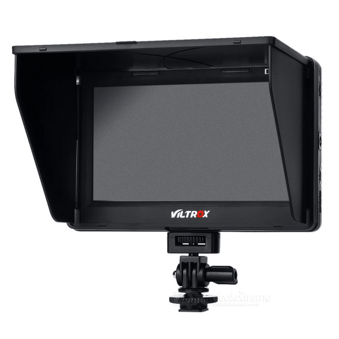 "VILTROX 7"" LCD HD Monitor HDMI AV Input for DSLR Camera, Video - Black"