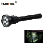 4-T6 LED 3000lm 5-Mode High Power Long Range Torch (2/3 * 18650/26650)