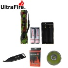 Outdoor Camping 889lm Flashlight with Multi-function Keychain Knife Tools Kit (1*18650 )
