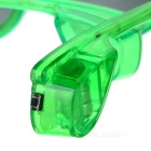 LED Light Glowing Eyeglasses Holiday Gift - Transparent Green