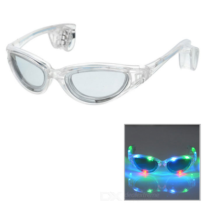 LED Light Glowing Eyeglasses Holiday Gift - Transparent