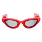 LED Light Glowing Eyeglasses Holiday Gift - Transparent Red