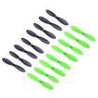 CW / CCW Propellers for JJRC H30C, H30W Drone - Black + Green (16 PCS)