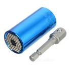 2-in-1 7~19mm Screwdriver Socket + 3/8 Connecting Rod Set - Blue