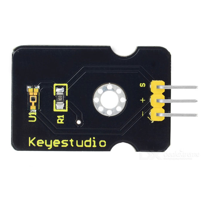 Keyestudio TEMT6000 Ambient Light Sensor for Arduino - Black + Yellow