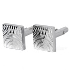 Men's Alloy Astigmatism Laser Design Cufflinks - Silver (Pair)