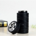 Creative Automobile Tires Style Stainless Steel Water Bottle - Black