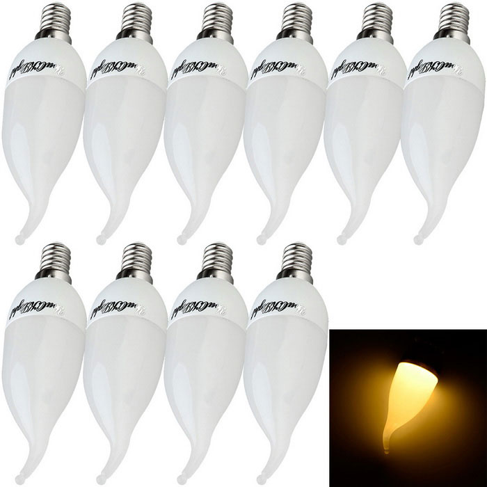 YouOKLight YK0308 E14 3W Branco Quente LED bulbo (10PCS)