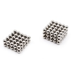 Puzzle 6mm Magnetic Beads Enfants Toy - Argent (125 PCS)