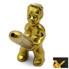 Creative Funny Butane Refillable Gas Lighter - Golden