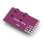 2-Channel 3.5mm Breakout Stereo Microphone Interface Module - Purple