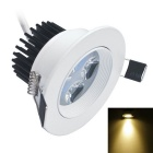 Jiawen 4W 4-LED Warm White LED Ceiling Light - Branco (AC 85 ~ 265V)
