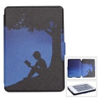 "Reading Under the Tree Pattern PU Auto Sleep Case for 6"" Amazon Kindle"