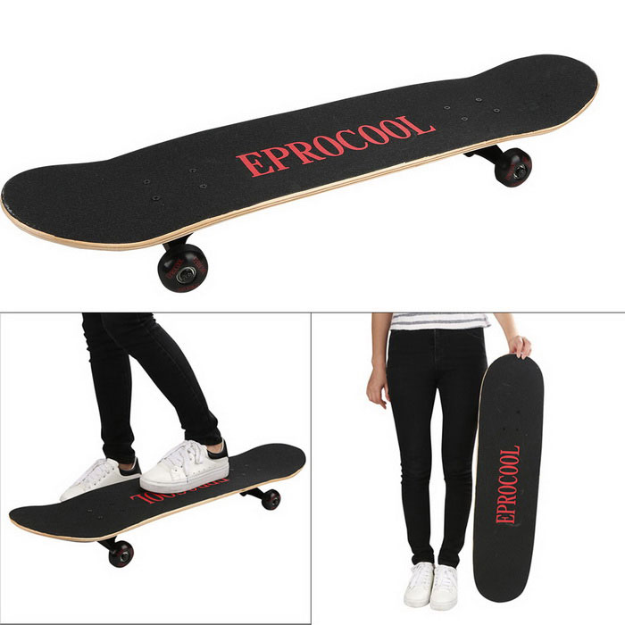 EPROCOOL EC-LB04 31' * 8' Flame Pattern Maple Skateboard