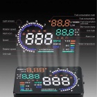"5.5 ""Tela HD Color HUD carro Head Up Display - Preto"