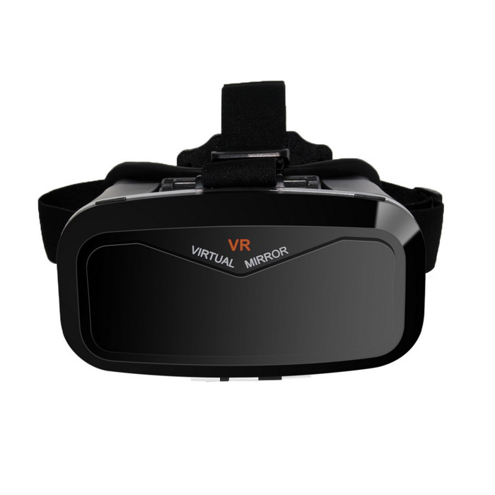 "Virtual Reality VR 3D Glasses for 4""~6"" Mobile Phones - Black"
