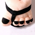 Cotton Material Cartoon Big Feet Warm Shoes - Nude + Black (Pair)