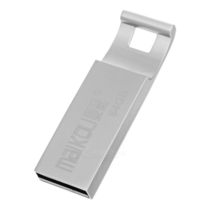 MAIKOU Portable High Speed USB 2.0 Flash Drive - Silver (64GB)64GB USB Flash Drives<br>Form  ColorSilverCapacity64GBModel-MaterialStainless steel + ABSQuantity1 DX.PCM.Model.AttributeModel.UnitShade Of ColorSilverMax Read Speed17~25MB/sMax Write Speed8~15MB/sUSBUSB 2.0With IndicatorNoPacking List1 * USB 2.0 Flash Drive<br>