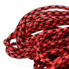 Tactical Military Nylon Parachute Cord Paracord - Black + Red (30m)