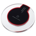 QI Wireless Charger for Samsung S6 + More - Black + Transparent