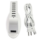 47W 7-Port USB 9.5A Intelligent USB Socket - White (US Plugs)