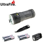 Ultrafire XM-L2 U2 4-L2 Cool White Flashlight w/ Multi-function Tool