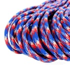 Outdoor Tactical Military Parachute Cord Paracord -Blue+Red+White(30m)