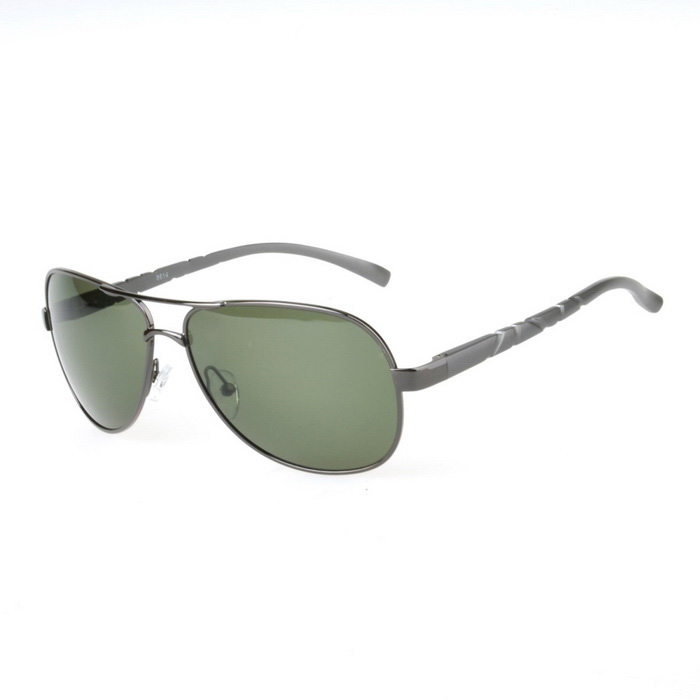 SENLAN 8614P2 Polarized Sunglasses - Gun Color Frame + Dark Geen Lens