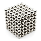 5mm Puzzle Magnetic Beads Toy -  Silver (216 PCS)